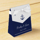 Navy Blue Nautical Wedding Favour Boxes Tent