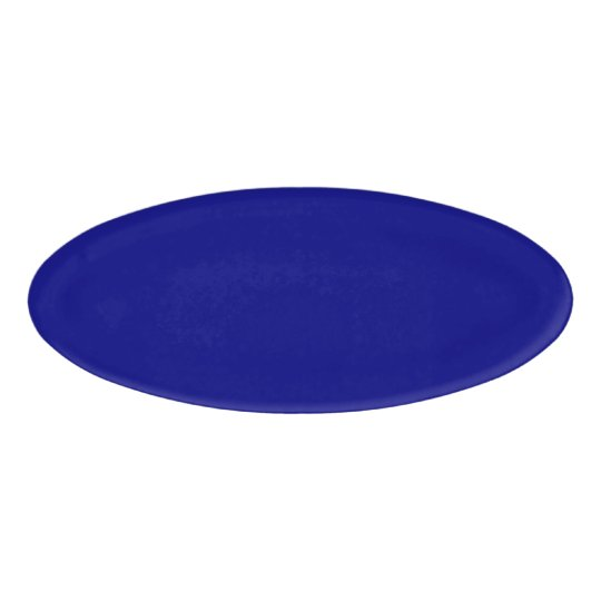 Navy Blue Oval Name Tag