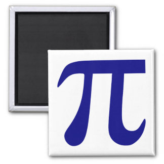 Navy Blue Pi Symbol Magnet