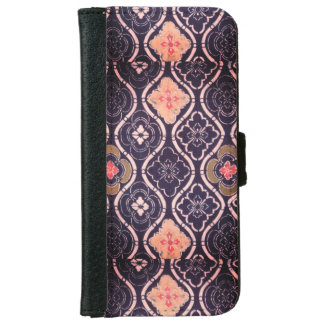 Navy Blue & Pink Iphone 6/6s Wallet Phone Case