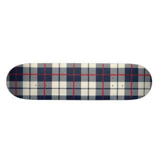 Navy Blue Plaid Pattern 19.7 Cm Skateboard Deck