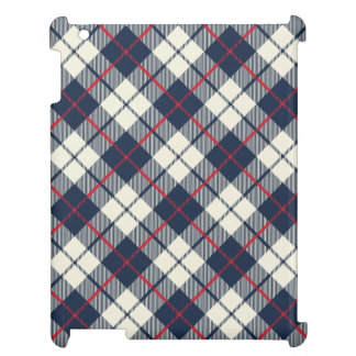 Navy Blue Plaid Pattern Case For The iPad 2 3 4