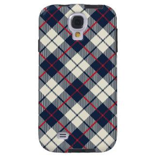 Navy Blue Plaid Pattern Galaxy S4 Case