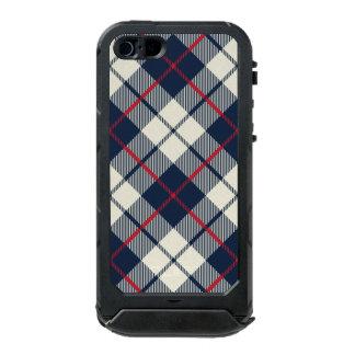 Navy Blue Plaid Pattern Incipio ATLAS ID™ iPhone 5 Case