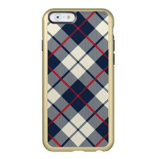 Navy Blue Plaid Pattern Incipio Feather® Shine iPhone 6 Case