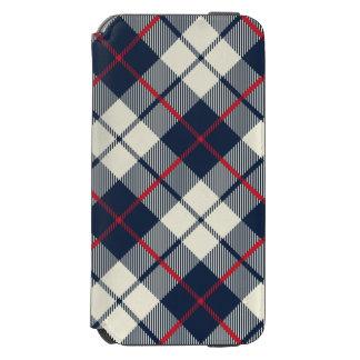 Navy Blue Plaid Pattern Incipio Watson™ iPhone 6 Wallet Case
