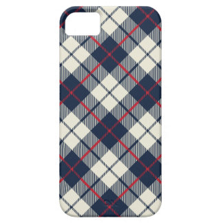 Navy Blue Plaid Pattern iPhone 5 Covers