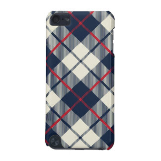 Navy Blue Plaid Pattern iPod Touch 5G Covers