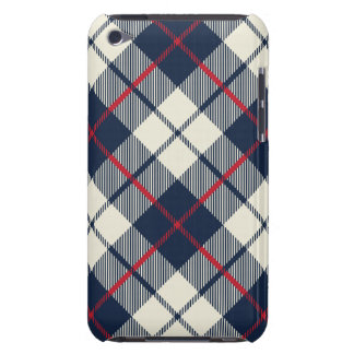 Navy Blue Plaid Pattern iPod Touch Covers