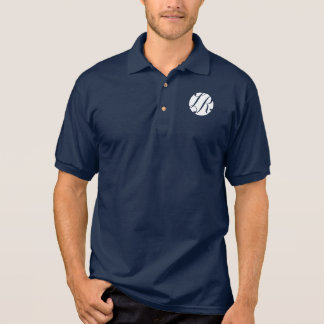 Navy Blue Polo with White LR Logo