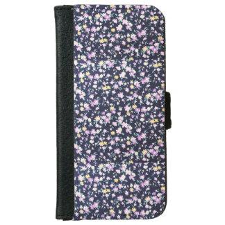 Navy Blue & Purple Iphone 6/6s Wallet Phone Case