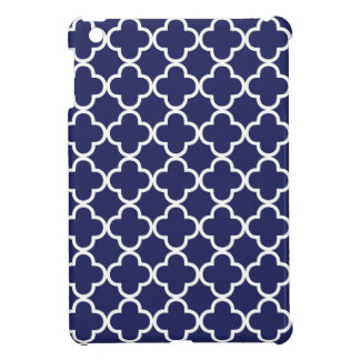 Navy Blue Quatrefoil iPad Mini Case