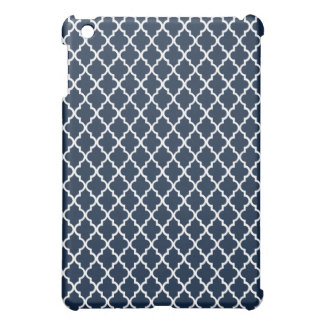 Navy Blue Quatrefoil Pattern iPad Mini Case