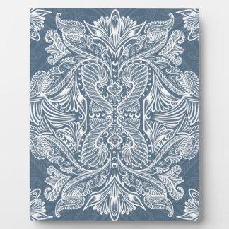 Navy Blue, Raven of mirrors, dreams, bohemian Plaque