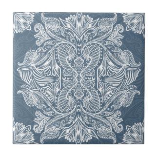 Navy Blue, Raven of mirrors, dreams, bohemian Tile