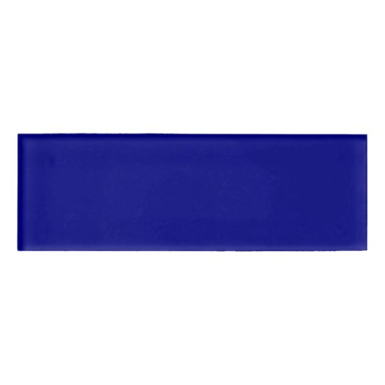 Navy Blue Rectangle Name Tag