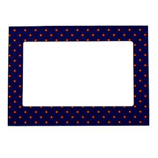 Navy Blue Retro Print Frame Picture Frame Magnets