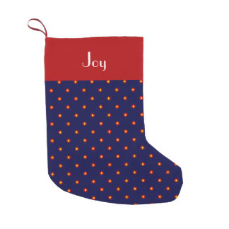 Navy Blue Retro-Print Stocking