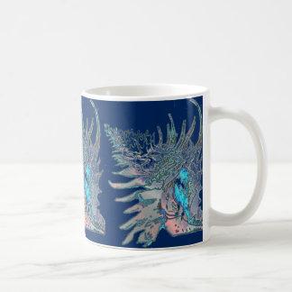 Navy Blue Rock Snail Shell Coffee Mug