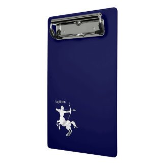 Navy Blue Sagittarius Zodiac Mini Clipboard