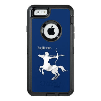 Navy Blue Sagittarius Zodiac OtterBox Defender iPhone Case