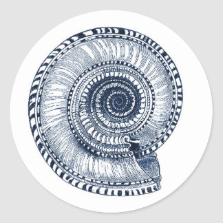 Navy Blue Sea Shell Sticker