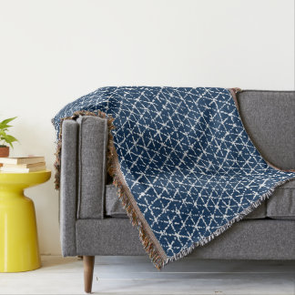 Navy Blue Shibori Geometric Tessellation