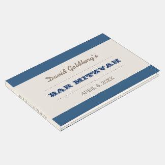 Navy Blue & Silver Bar Mitzvah Guest Book
