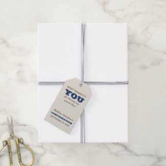Navy Blue & Silver Confirmation Thank You Gift Tags