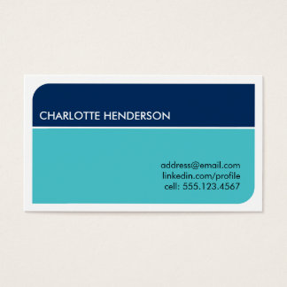 Navy blue smart student employment resume card