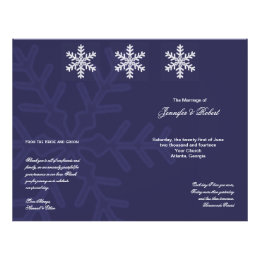 winter snowflakes wedding program flyers zazzle com au