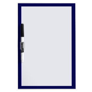 Navy Blue Solid Color Customize It Dry Erase Board