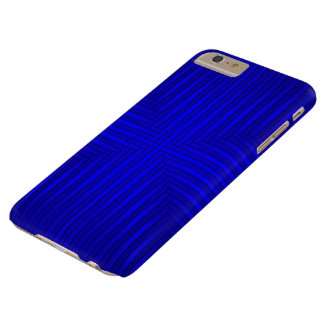 Navy Blue Solid Stripes Pattern iPhone 6 Plus Case