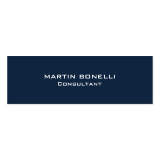 Navy Blue Special Unique Clear Consultant Double-Sided Mini Business Cards (Pack Of 20)