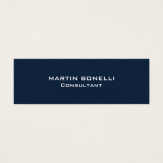 Navy Blue Special Unique Clear Consultant Mini Business Card