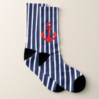 Navy Blue Striped Nautical 1