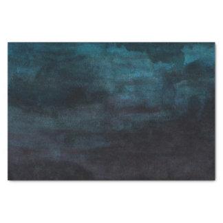 Navy Blue & Teal Modern Watercolor Wedding Tissue Paper