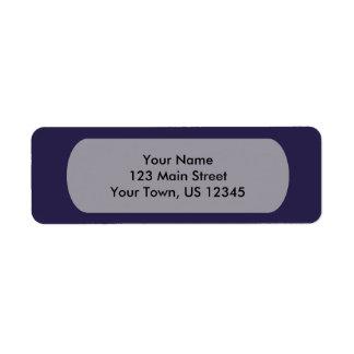 Navy Blue Template Return Address Label
