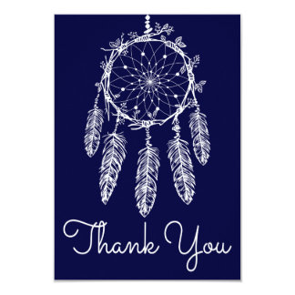Navy Blue Thank You Dream Catcher Native American Card