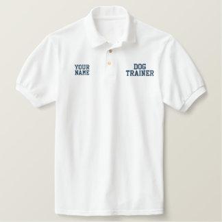 Navy Blue Thread Dog Training Custom Embroidered Shirts