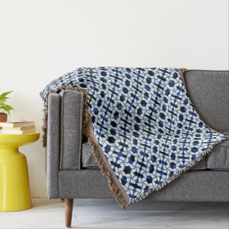 Navy Blue Tile Dark Kumo Shibori Tiling Textile