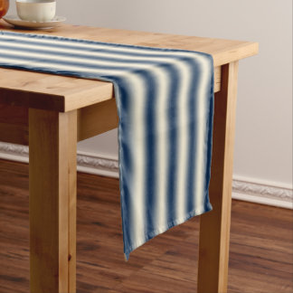 Navy blue to sandy yellow gradient short table runner