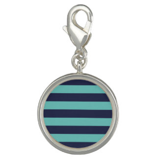Navy Blue Turquoise Stripes