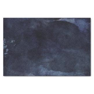 Navy Blue Watercolor Modern Wedding Tissue Paper