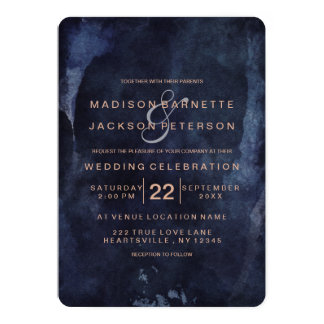 Winter wedding invitations announcements zazzlecomau for Rose gold winter wedding invitations