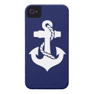 Navy Blue White Anchor Phone Case
