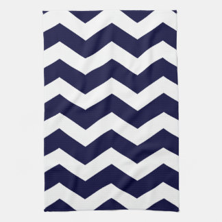 Navy Blue & White Chevron Kitchen Towel