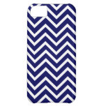 Navy Blue White Chevron Stripe iPhone 5 Case