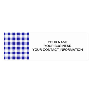 Navy Blue White Gingham Pattern Business Cards