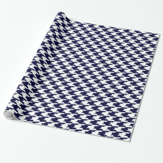 Navy Blue & White Houndstooth Pattern